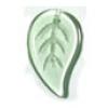 Glass Leaves 26x16mm Peridot Strung